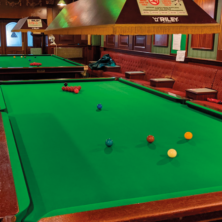 Stunning snooker room